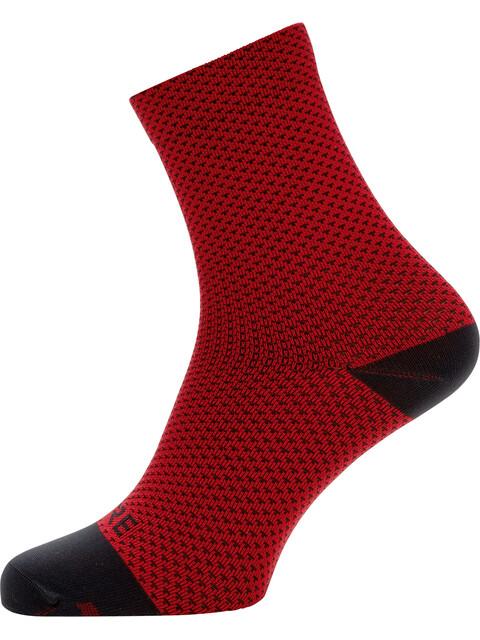GORE WEAR C3 Dot Mid Socks red/black